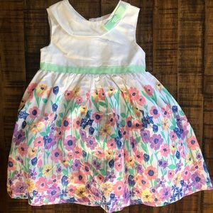 White dress with spring flowers - size 18M